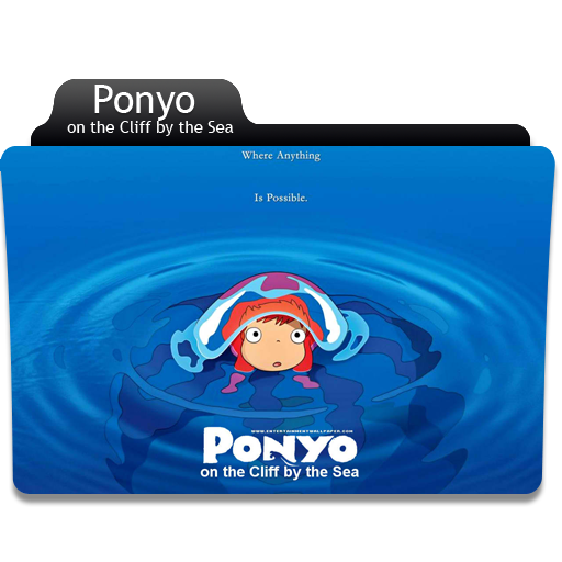 Anime Ponyo Folder Icon image #43725