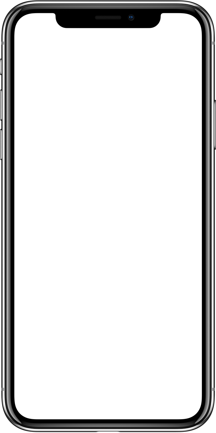 Apple IPhone X Landing Page Blank Png image #45233