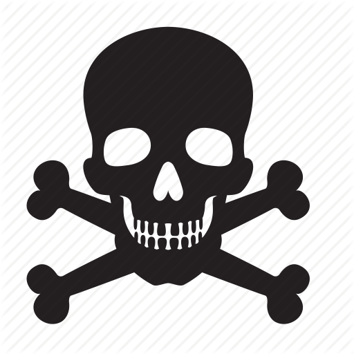 attention, bones, death, skull icon