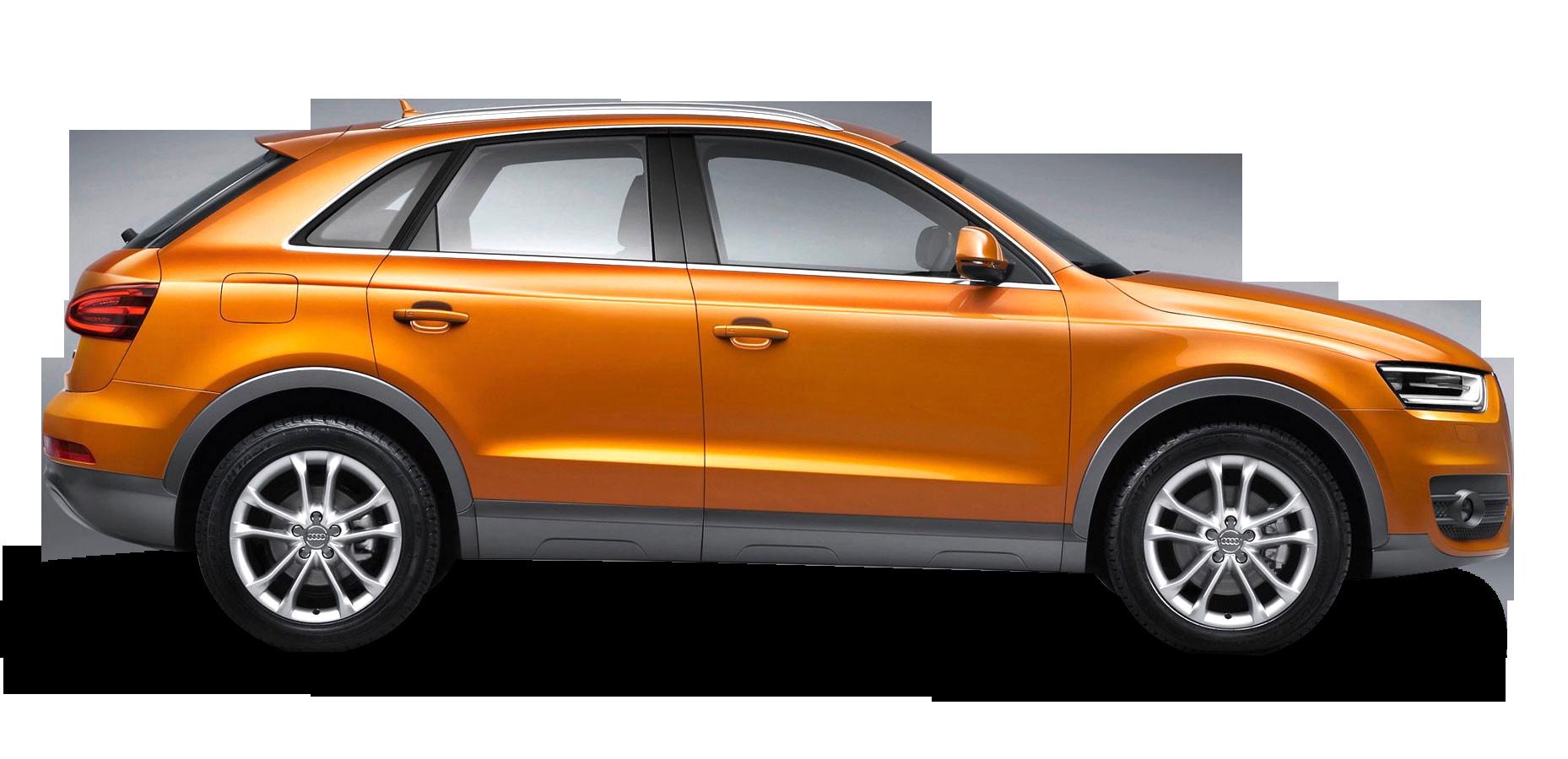 Audi Q3 Car PNG Orange Side view