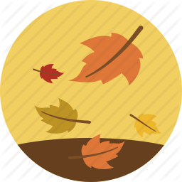 Autumn, Fall, Leaves, Weather Icon  image #41731