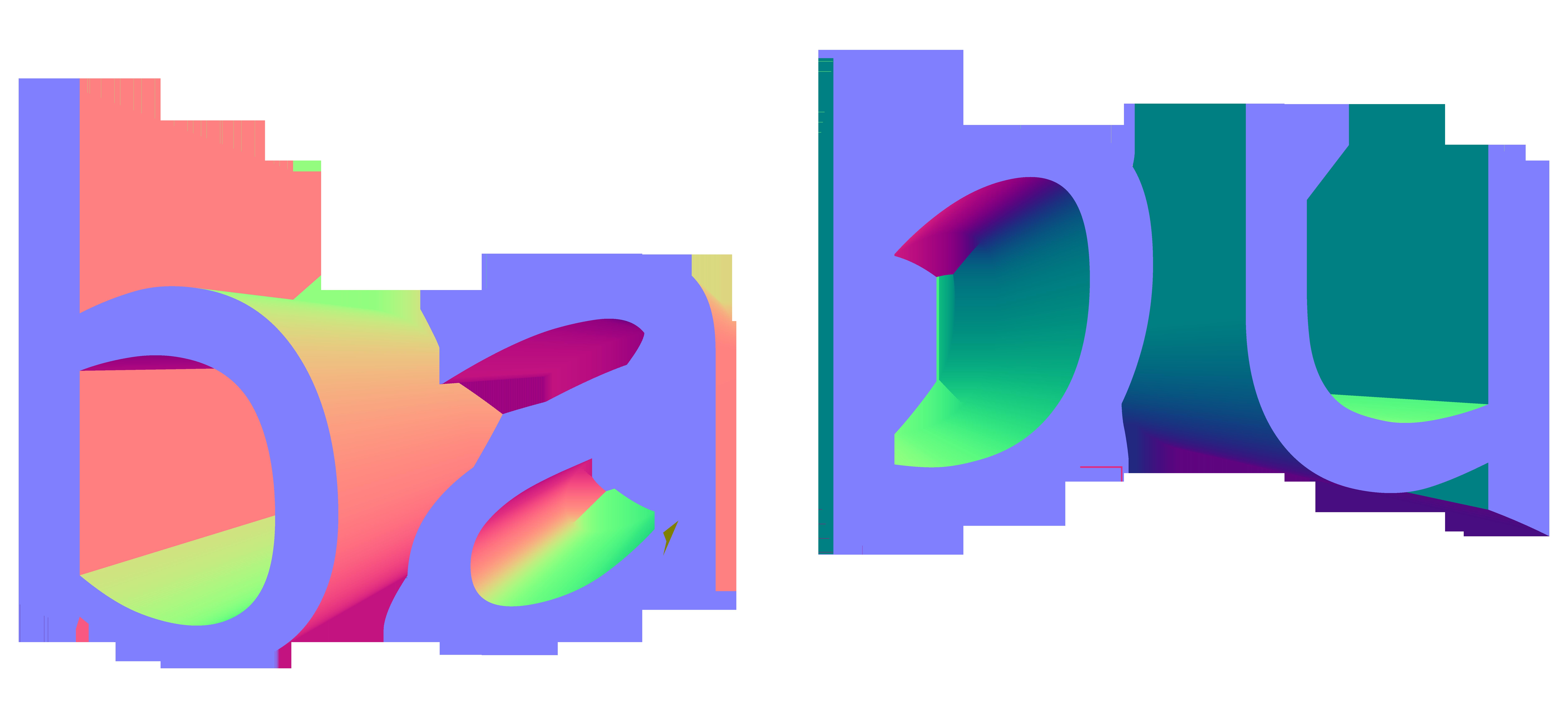 babu logo vaporwave png
