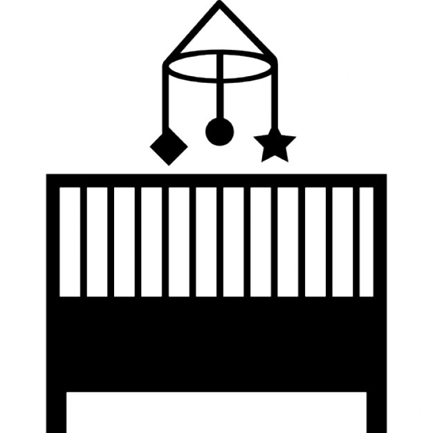 Baby crib bedroom icon