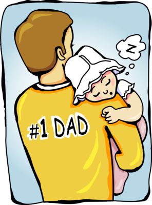 Baby Sleeping On Fathers Shoulders png