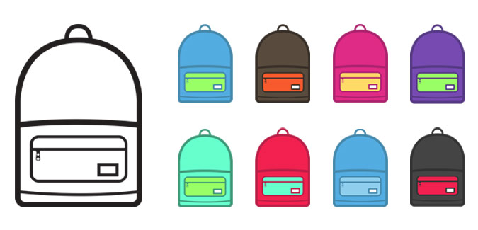 Vector Drawing Backpack image #21174