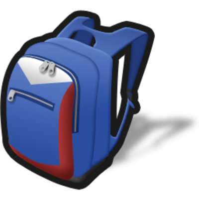 Backpack Simple Png image #21159