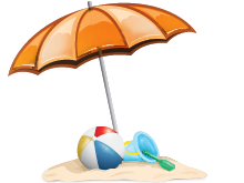Ball, Umbrella, Beach Png image #41227