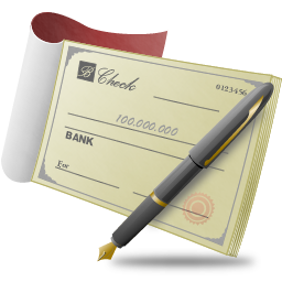 Bank Check Banking Business Document Finance Money Payment Icon Png Transparent Background Free Download 6029 Freeiconspng