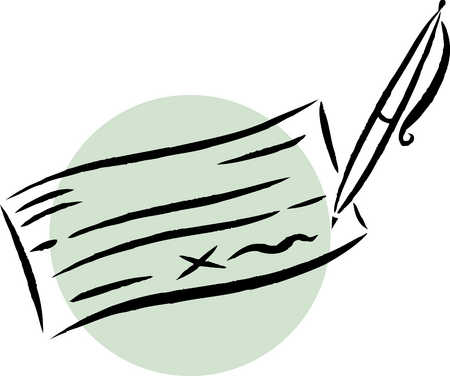 Bank Cheque Icon image #6028