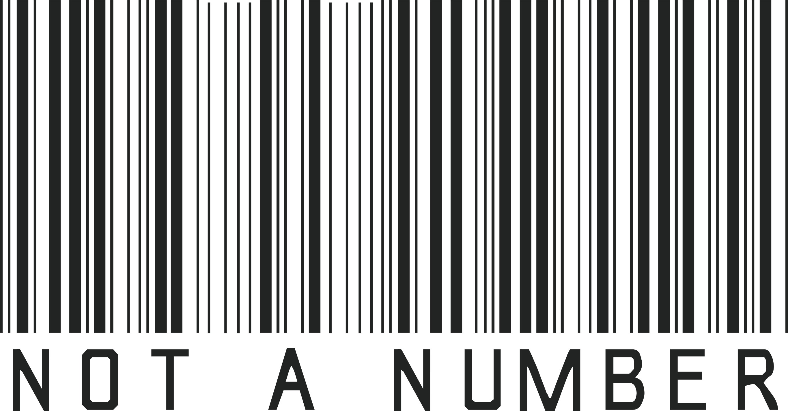 Barcode NOT A NUMBER Png