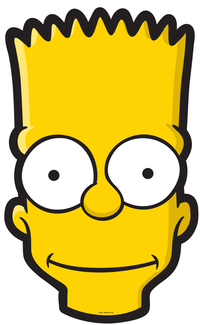 Bart Simpson Head Face Png image #39276