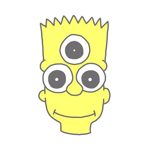 Bart Simpson Head Face Png image #39283