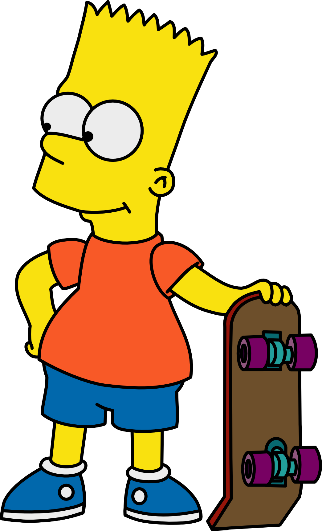 Transparent Background Bart Simpson Png Hd image #39259