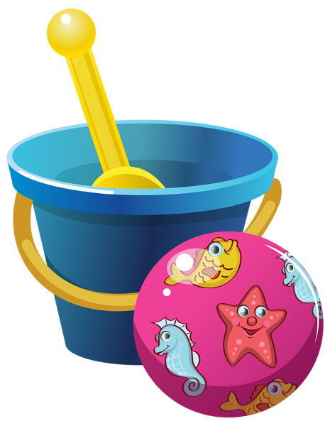 Beach Bucket And Ball For Kids image #48903