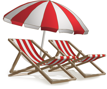 Beach Umbrella And Chairs Png image #41221