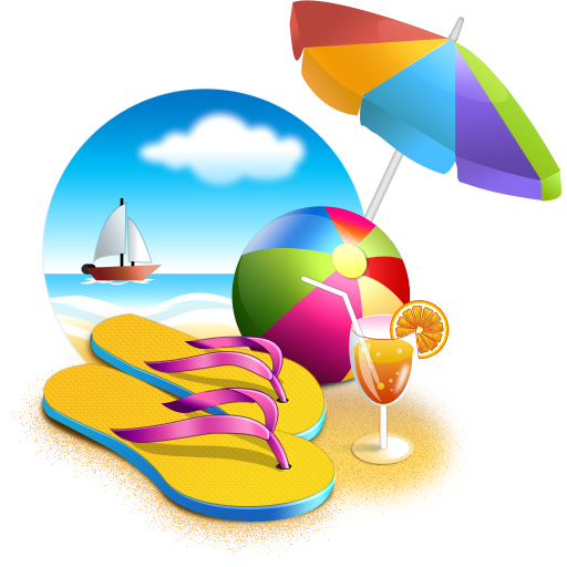 Beach, Umbrella, Sea, Cocktail, Ball, Summer Png image #41190