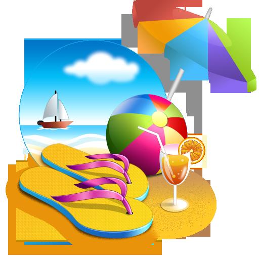 Beach, Umbrella, Sea, Cocktail, Ball, Summer Png image #41190