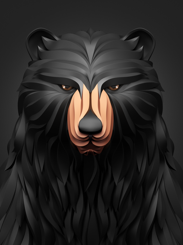 Bear 3d Animal download 3d animal PNG images