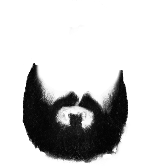 Beard Black And White PNG