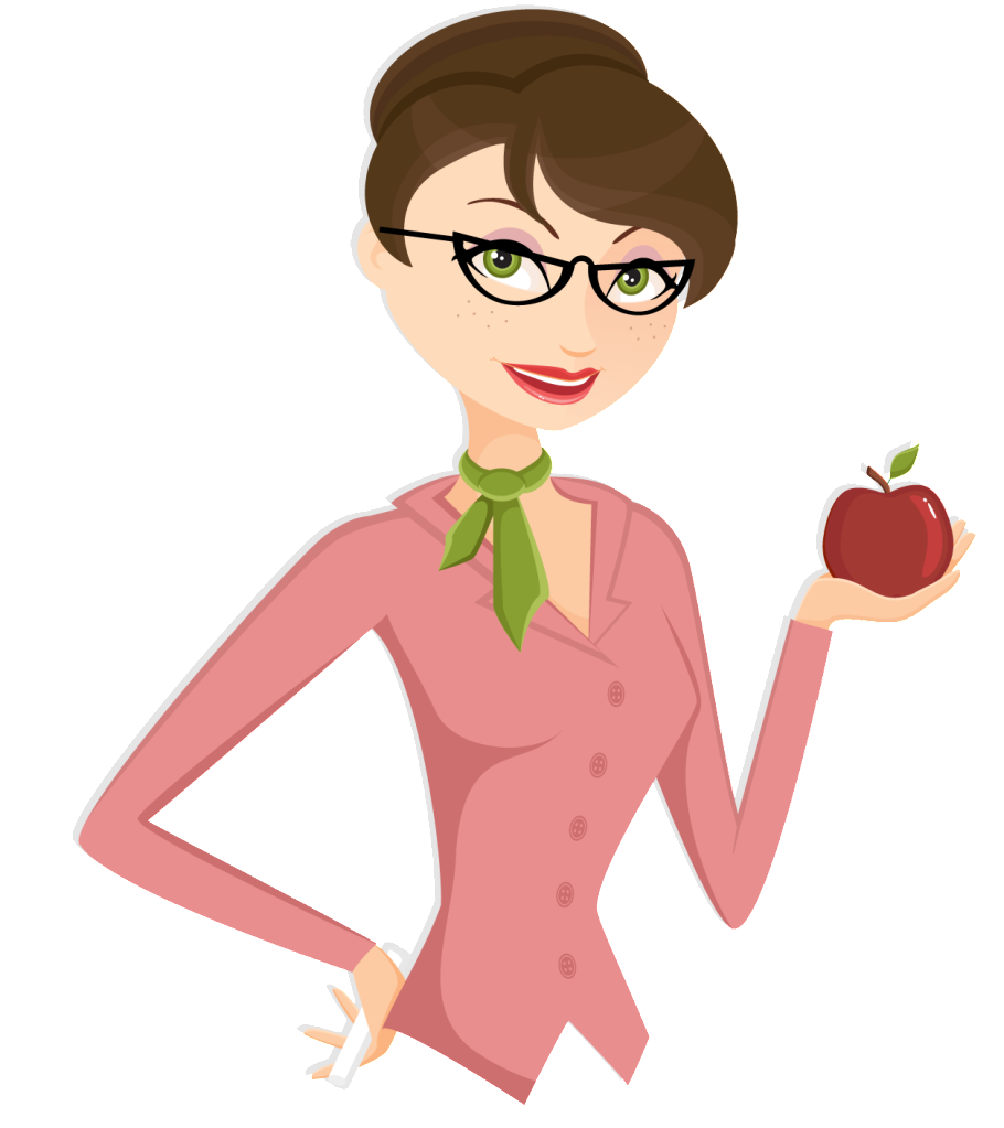 Beautfiul Teacher Cartoon PNG Free Download image #46699