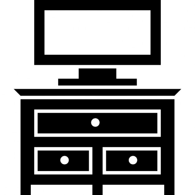 bedroom  television  tv  furniture  drawer icon  35977