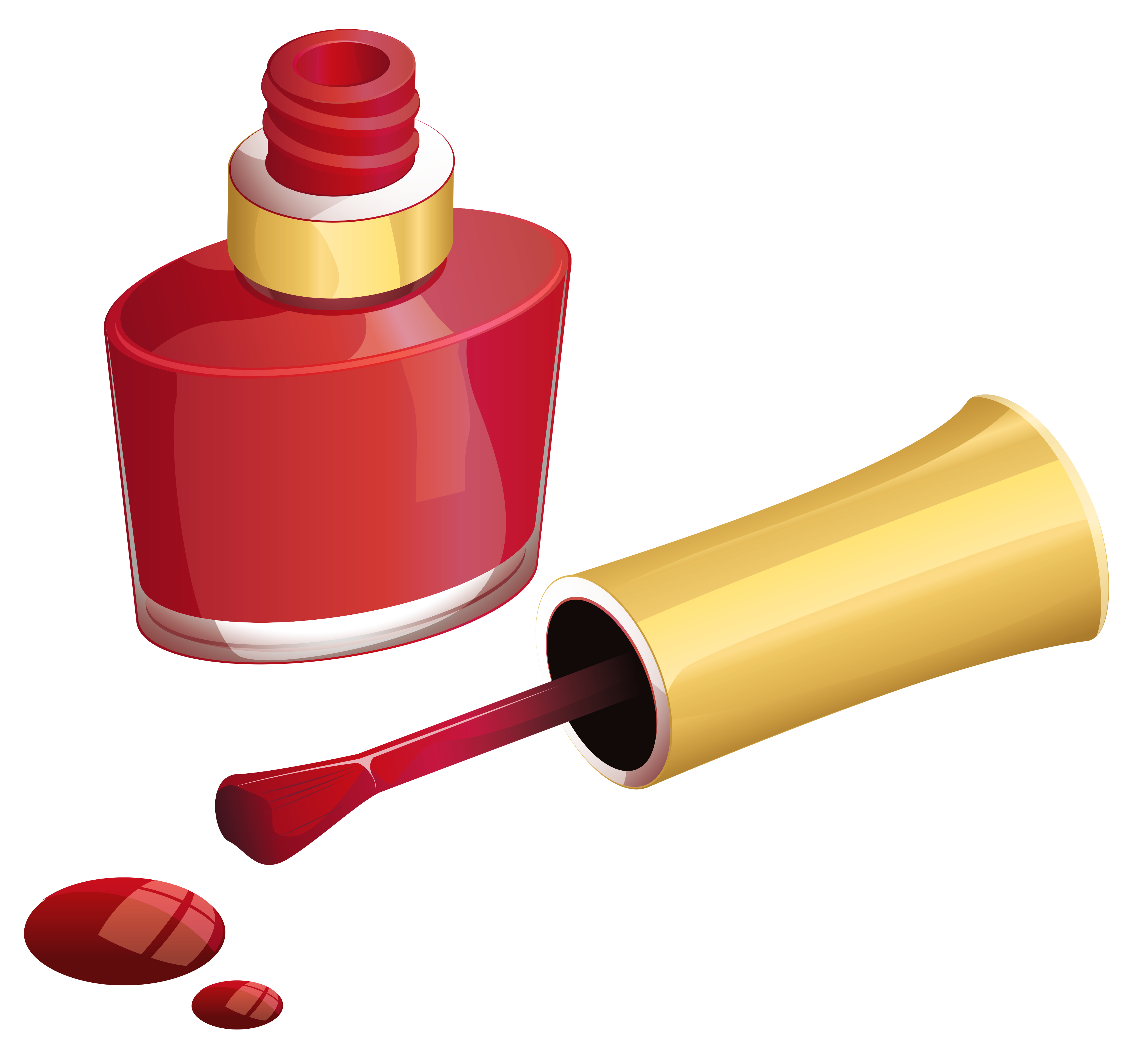 Best Free Nail Polish Red Bottle Png Image