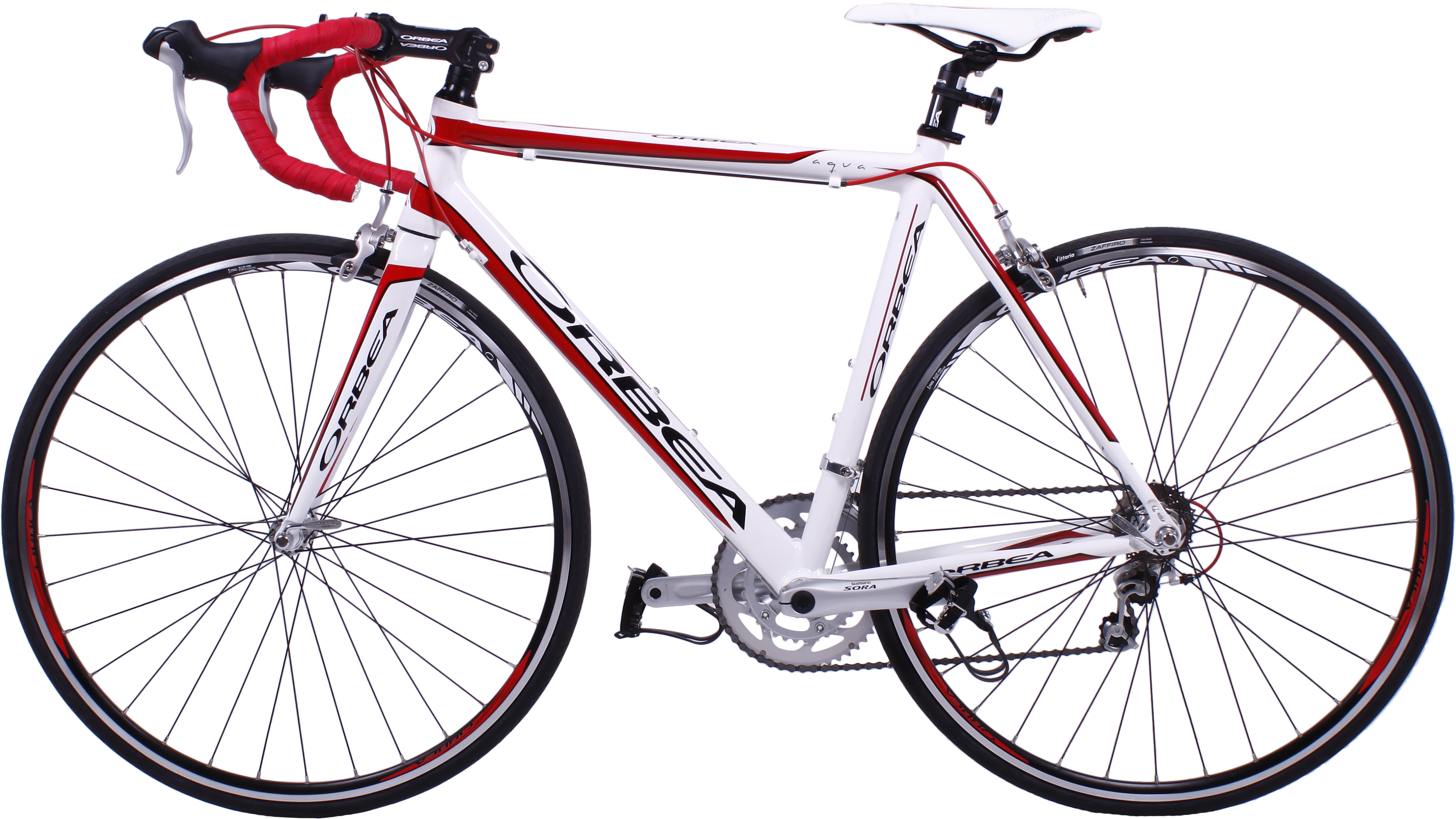 Bicycle PNG image White and Red
