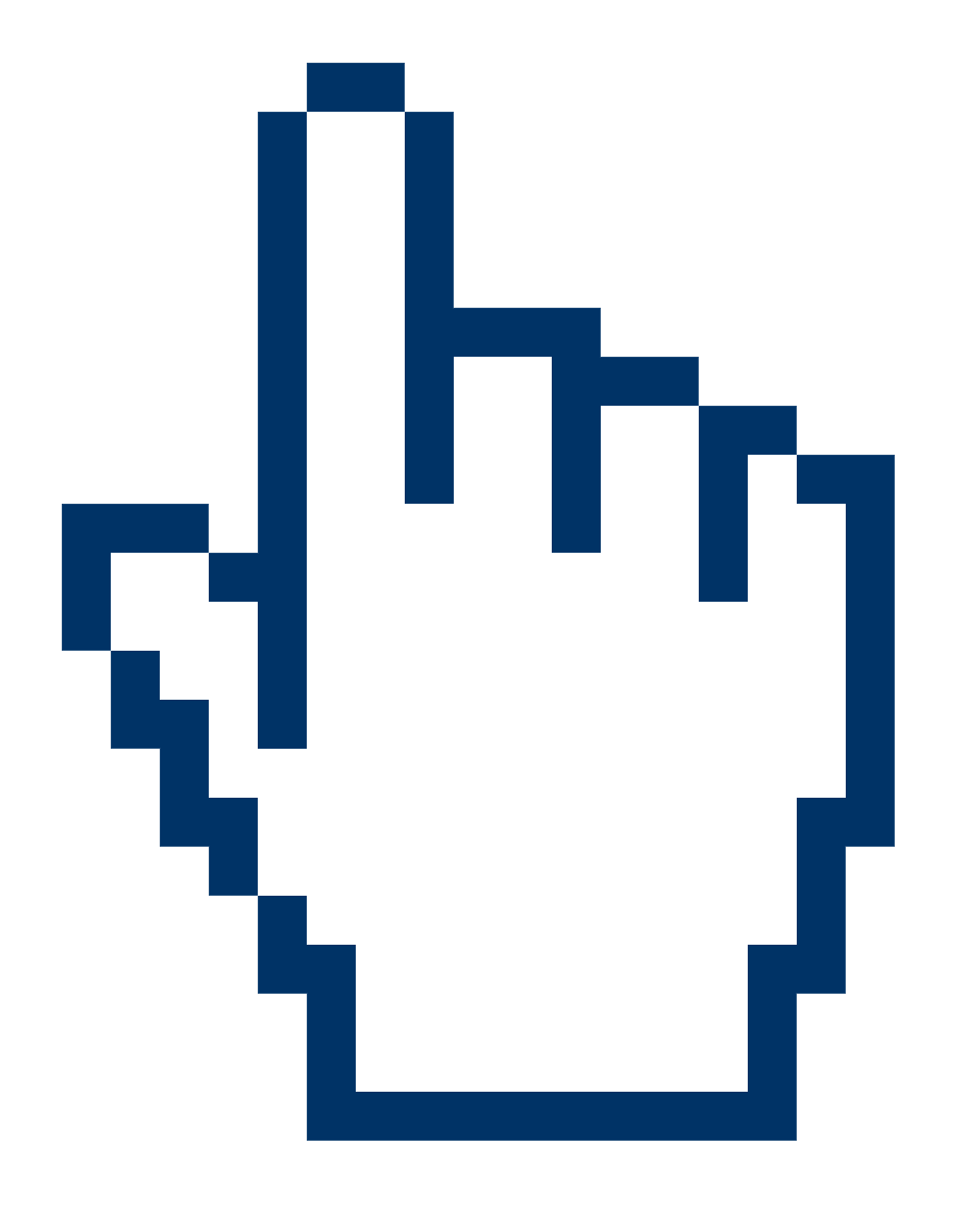 Big free hand cursor transparent