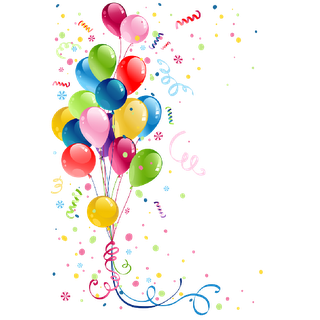 Birthday Balloons Party Png image #43914