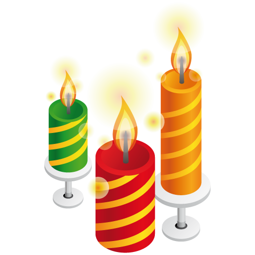 Birthday Candles Designs Png image #31059