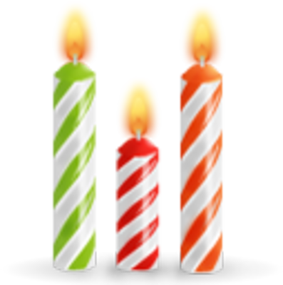 High Resolution Birthday Candles Png Icon image #31032