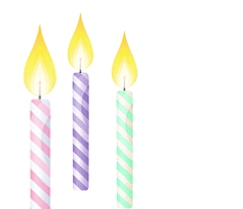 Birthday Candles Png Icon image #31034