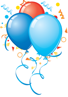 Birthday Party balloons Png