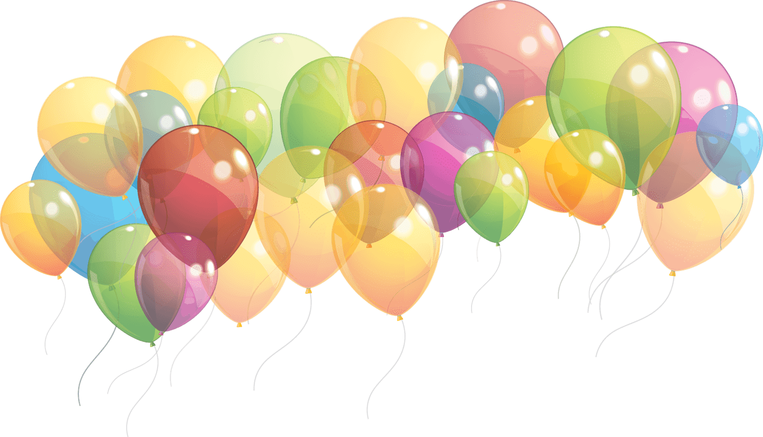 Birthday Party Balloons PNG Clipart