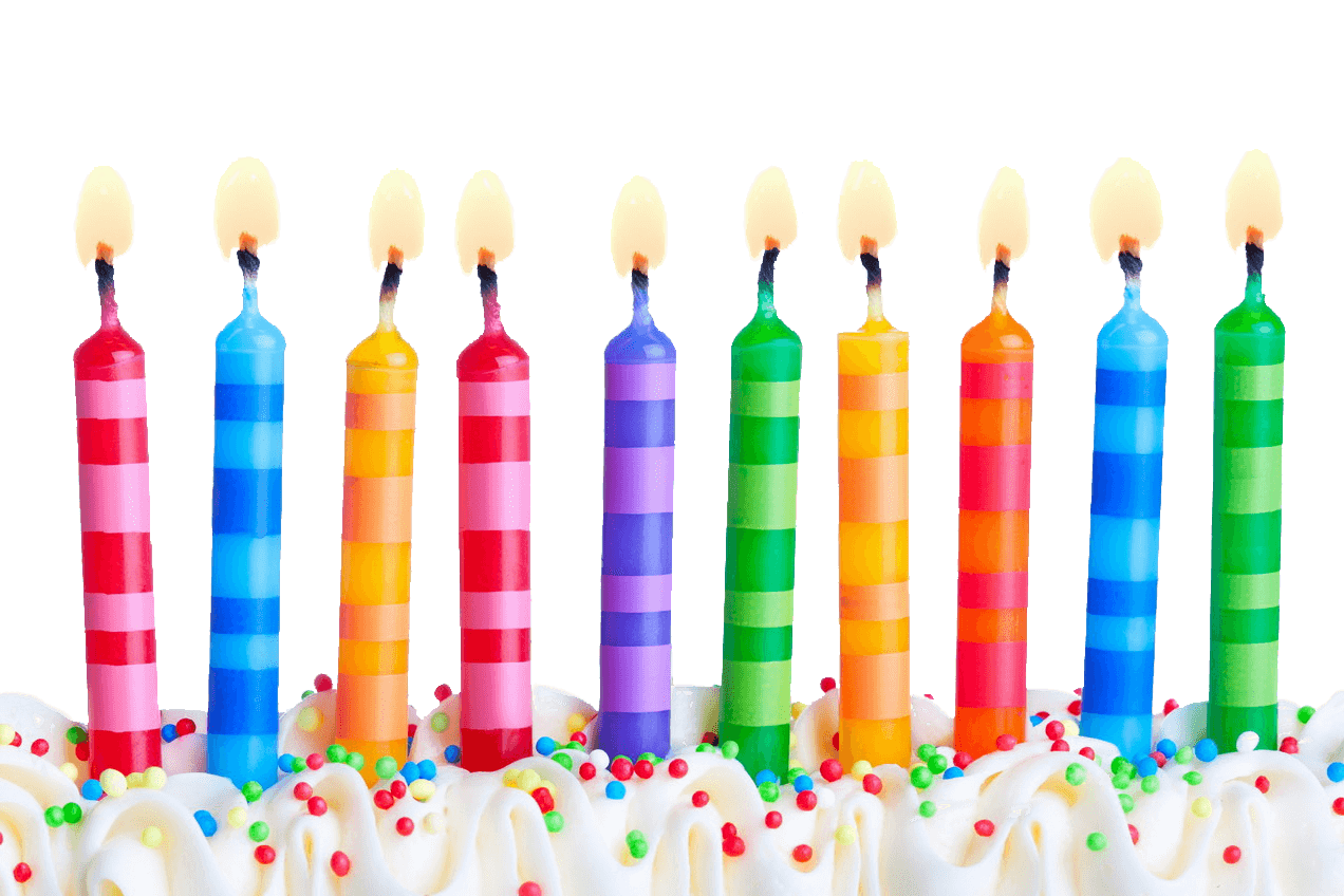 Birthday Party Candles Transparent Background
