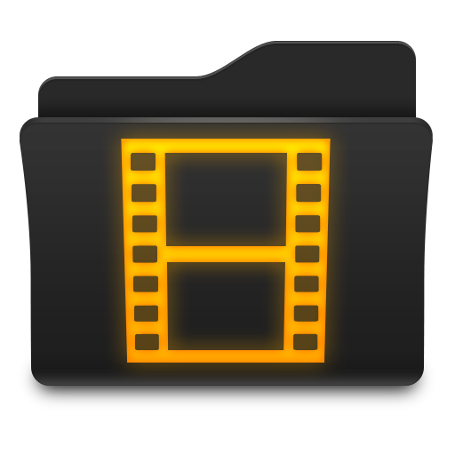 Black And Golden File Movies Folder Images