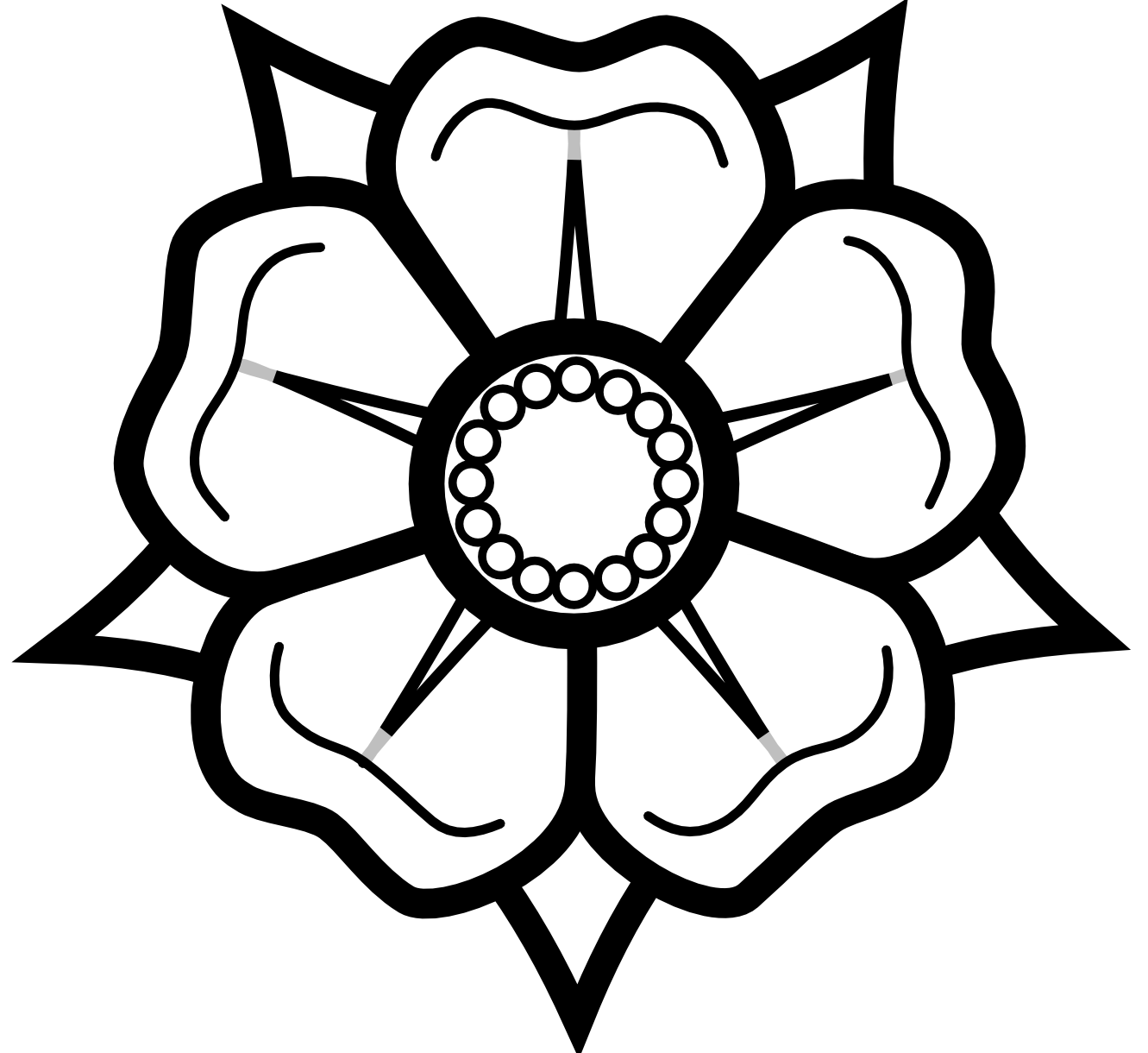 Black And White Flower Drawing Png 41801 Free Icons And Png
