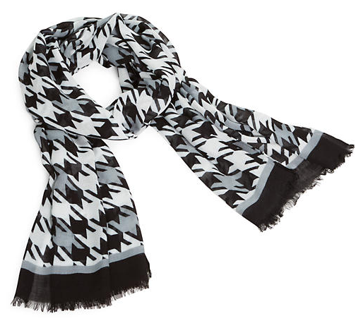 Black And White Scarf Png image #31370
