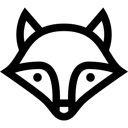 Black, Animal, Fox Icon image #35679