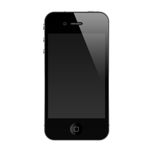 Black Apple iPhone 7 PNG Transparent