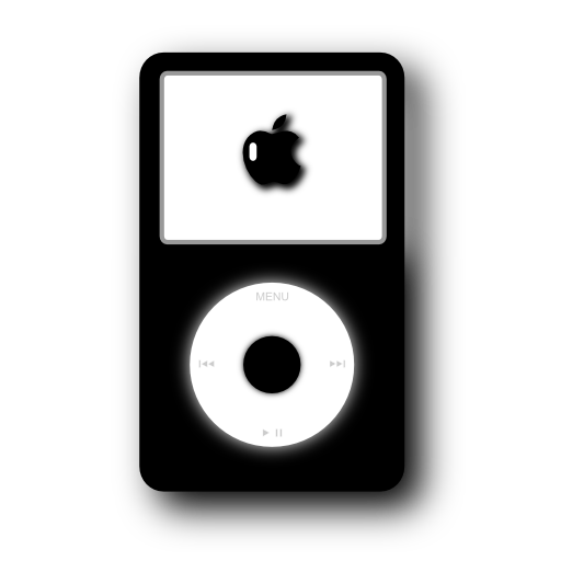 black Apple iPod Icon