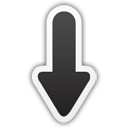 Black Arrow Down Icon Png image #6704