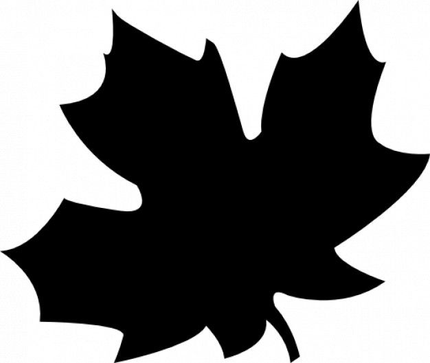 black autumn leaf Icon