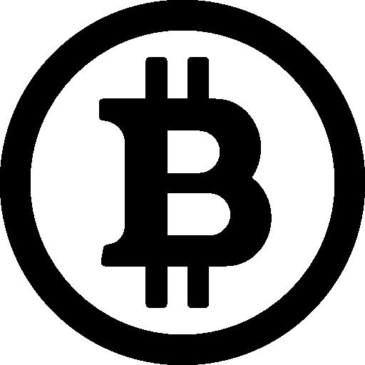 Black Bitcoin Icon image #42924