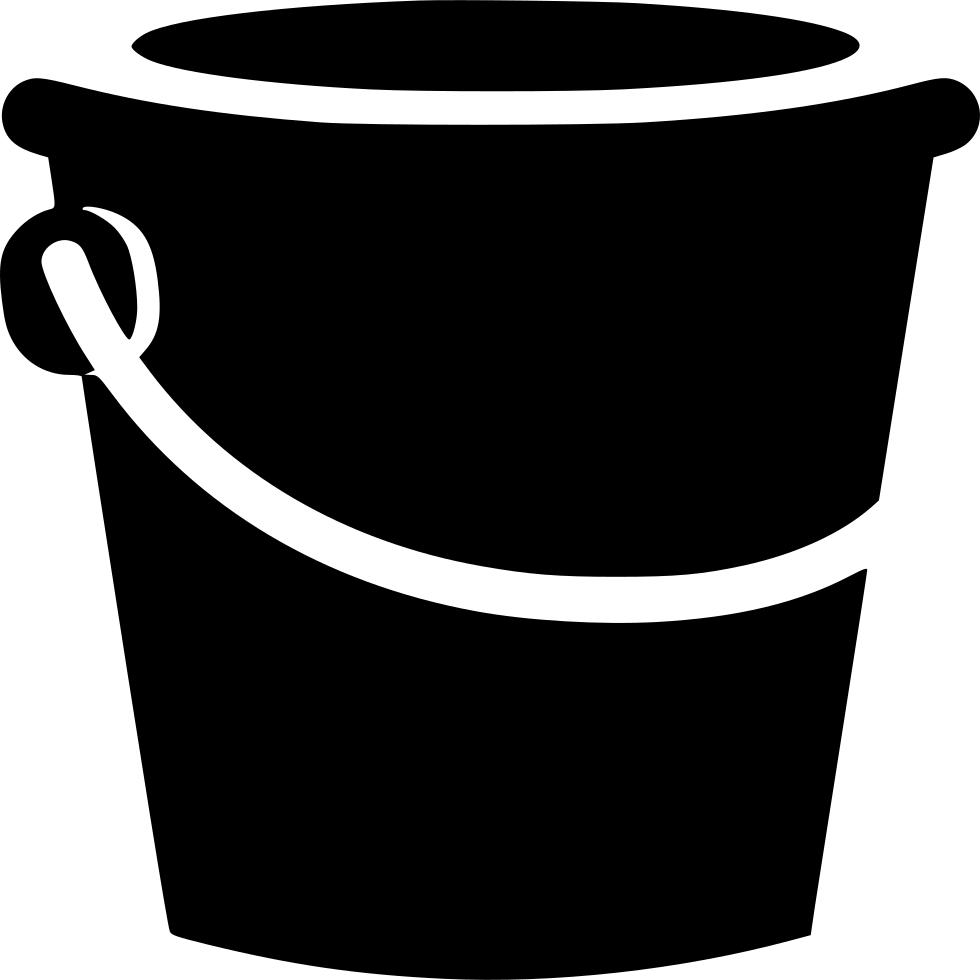 Black bucket icon download