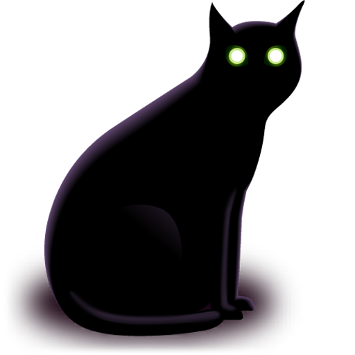 Simple Black Cat Png image #18781