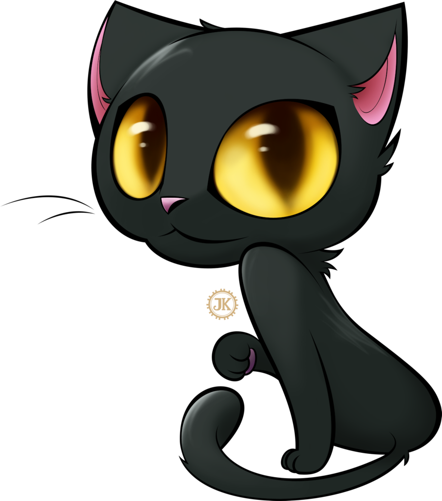 Black Cat Transparent PNG image #30369