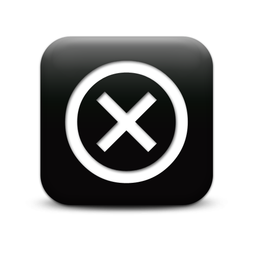 Black Close Button Png image #30228