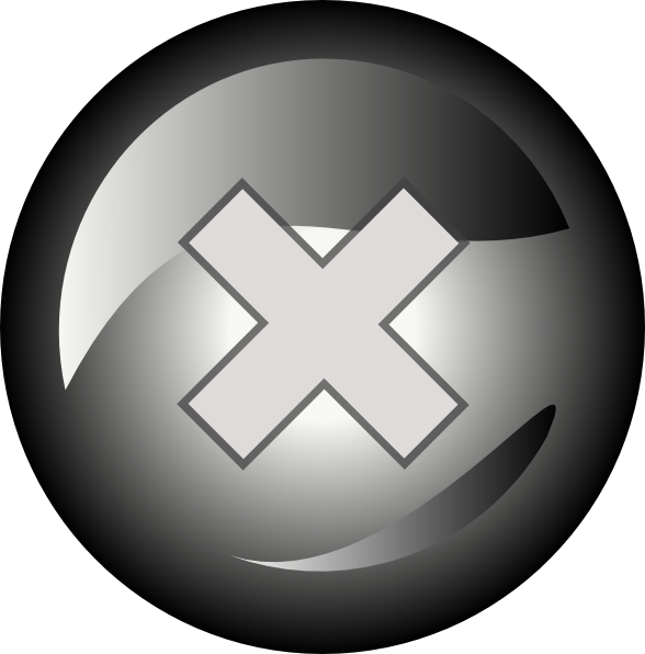 Black Close Button Png image #30219