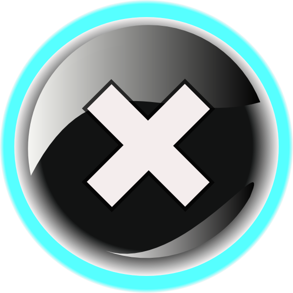 black close button png